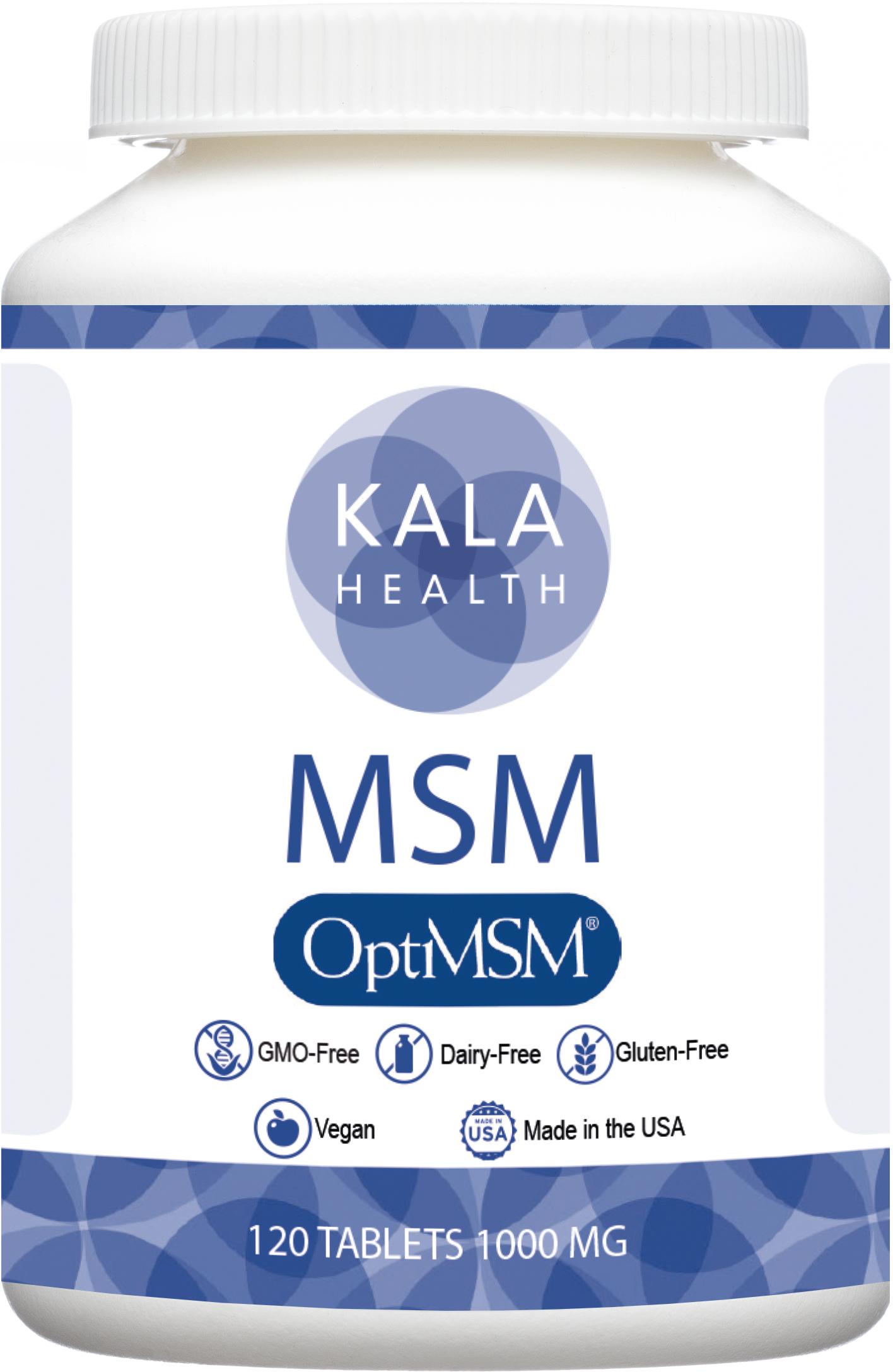 OptiMSM® 120 tablets, 1000 mg